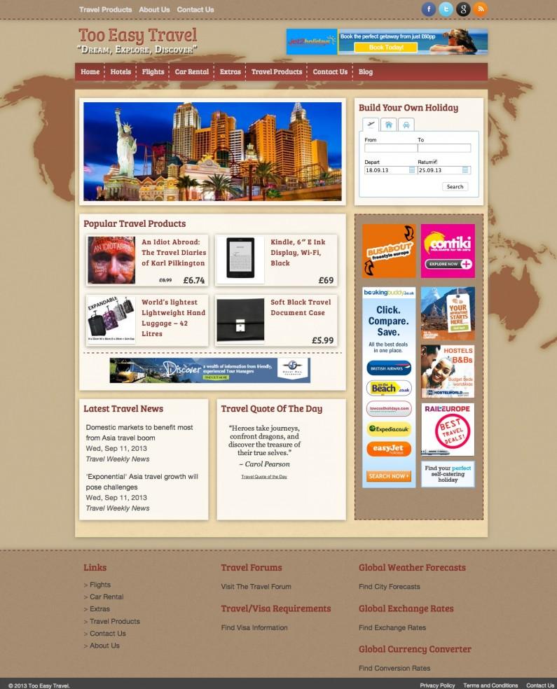 Website Portfolio - Too Easy Travel