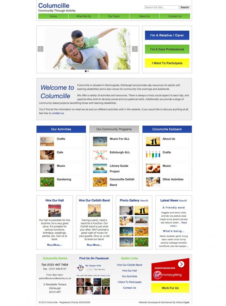 Website Portfolio - Columcille Centre